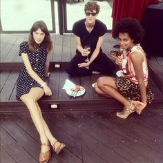 Alexa with Matt Hitt and Solange Knowles at The DL in NYC.