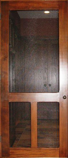 Traditional Screen & Storm Door | Old Fashion Model | www.VintageDoors.com Wood Screen Door, Wooden Screen, Wood Doors, Screen Doors, Doors And Floors, Windows And Doors, Exterior Doors, Entry Doors, Front Doors
