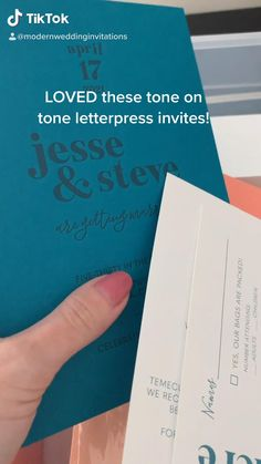Watch me assemble wedding invitations! Print envelopes, add map envelope liners, and put together these fun, bright invitations for a modern wedding!