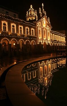 Braga, Portugal by night- I have heard this is one of the best places to visit. #Portugal #holidays