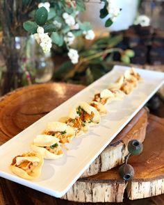 Tandoori chicken pappadums with mint yogurt & toasted peanuts Butcher Block Cutting Board, Tandoori Chicken, Peanuts, Yogurt, Catering, Mint, Events, Instagram, Peppermint