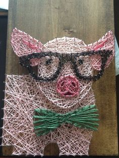 nice Pig String Art by http://www.nailartdesignexpert.xyz/nail-art-for-kids/pig-string-art/