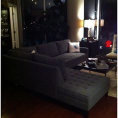 @Chris Boggs is thrilled to have our Vapor sectional in his living room.