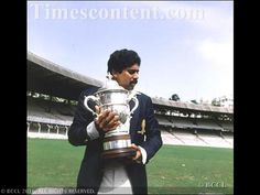33 years since India's first World Cup victory: Rare moments- Kapil Dev holding the world cup at Bombay for a show to fans.