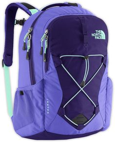 The North Face Womens Jester Backpack (Garnet Purple/Surf Green)