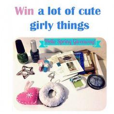 Win a lot of cute girly things ^_^ http://www.pintalabios.info/en/fashion-giveaways/view/en/3261 #International #Accessories #bbloggers #Giweaway
