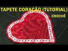 Jogo de Banheiro Coração Tapete de Pia 2/2 # Wilma Crochê - YouTube
