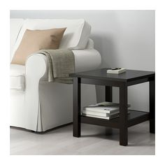 HEMNES Side table, black-brown black-brown 21 5/8x21 5/8