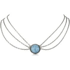 """Amazon.com: Dyanne Belle """"Carousel Pendant Collection"""" Victorian Round... (€2.475) ❤ liked on Polyvore featuring jewelry, necklaces, victorian pendant necklace, round silver pendant, pendant necklace, aquamarine necklace and silver pendant"""