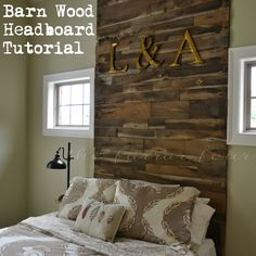 DIY Barnwood Headboard Tutorial     The Farrar Four