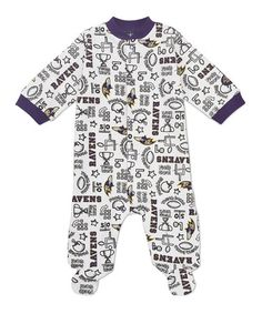 Take a look at this Purple Baltimore Ravens Footie - Infant by NFL on #zulily today!