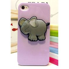 $20.99  Lovely 3D Elephant Phone Case for iPhone 4/4s/5  color: Purple/Green/White/Light BLue/Yellow