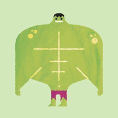 Alberto Cerriteno, an illustrator from Seattle, takes us in a funny visual exploration with a selection of superhero of comic strips. Called The Supers, the kin Illustrations, Illustration Art, Hulk Birthday, Marvel Animation, Hulk Art, Textile Texture, Comic Styles, Incredible Hulk, Character Design References