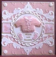 """Hallo bezoekers van mijn blog.   Vandaag 2 babykaarten gemaakt voor een jongen en een meisje.  Bij  't Hobby Hoekje """"De Linge""""  te Leerdam h..."""