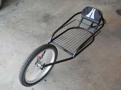 A version of a YAK Bike Trailer for a fat bike Bike Hanger For Garage, Diy Bike Rack, Kayak Cart, Bike Cart, Fat Bike, Cool Bicycles, Cool Bikes, Bicycle Sidecar, Trailer Diy