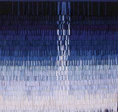 """Abdoulaye Konaté, """"Symphonie Bleue série 4"""", textile, 2011"""