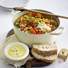 Italienischer Nudeltopf mit Parmesan-Knoblauch-Paste Rezept | LECKER