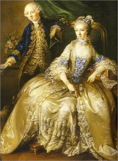 1764 - Marianne Carnasse, countess of Forbach, morganatic wife of Christian IV by Johann Christian Mannlich