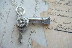 BLOW DRYER - Sterling Silver Charm