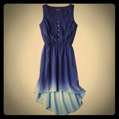 Blue ombre fishtail summertime dress Size: large Worn once mossimo Dresses High Low