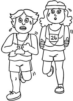 physical activities coloring pages - photo#21
