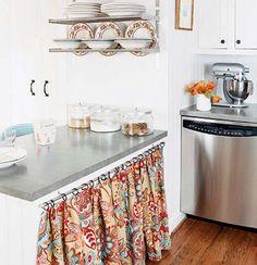 cortina para pia de cozinha com trilho