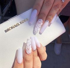 If you want to create an interesting yet stylish look for your nails, you should consider white nail designs. The bright, crisp color highlights your nails, while their neutrality does not always make Clear Acrylic Nails, Summer Acrylic Nails, Summer Nails, Pastel Nails, Purple Nails, Spring Nails, Orange Nails, Acrylic Nail Designs Coffin, Coffin Nails Designs Summer