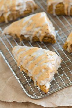 Spiced Pumpkin Scones Recipe - Inspired by Starbucks Pumpkin Scones from www.inspiredtaste.net #recipe #fall #pumpkin