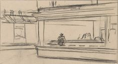 Edward Hopper (1882–1967), 1941 or 1942. Fabricated chalk and charcoal on paper; 11 1/8 x 15 in. (28.3 x 38.1 cm) Whitney Museum of American Art, New York; purchase and gift of Josephine N. Hopper …