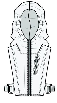 I really like the detail put into this drawing and the use of shade shapes to add volume to the drawing Fashion Sketch Template, Fashion Templates, Fashion Design Portfolio, Fashion Design Sketches, Flat Drawings, Technical Drawings, Clothing Sketches, Dress Sketches, Fashion Sketchbook