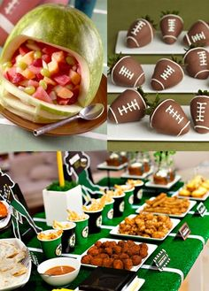 Lee's Catering + Fun Football Decor = The Best Tailgate Party Ever! http://leesfamousrecipe.com/content/catering-estimator