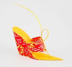 Paper shoe - wedge | virtualshoemuseum.com by Carlos N. Molina