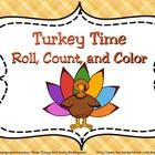 FREE! Turkey Time practice pages for counting numbers to set 1-10 using ten frames and one & two dice games to match numbers 1-12. Also includes colo...