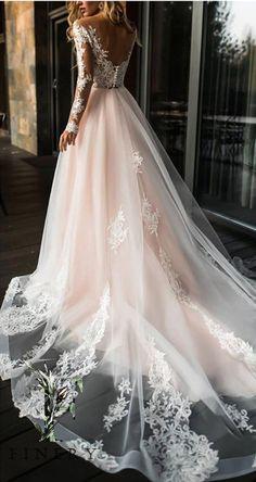 Off Shoulder Wedding Dress, Lace Wedding Dress With Sleeves, Wedding Dress Chiffon, Long Wedding Dresses, Long Sleeve Wedding, Bridal Dresses, Lace Dress, Dresses With Sleeves, Strapless Dress