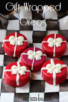 Pint Sized Baker: Chocolate Covered Oreo Presents. Learn how to make these festive Holiday Cookies using a mold.