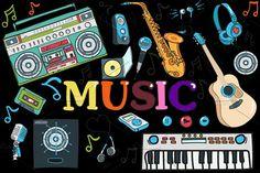 MUSIC- big set   (vector) by pashigorov on @creativemarket