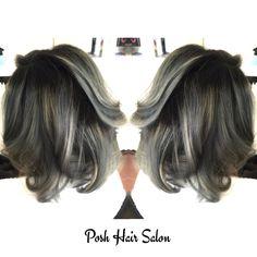 Grey hair Balayage at Posh