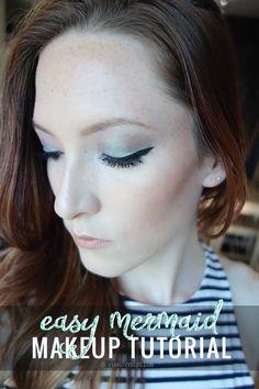 Easy mermaid makeup tutorial | oliveandivyblog.com | ESQIDO BFF lashes | http://esqido.com