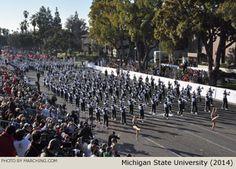 Michigan State University Marching Band 2014 Rose Parade