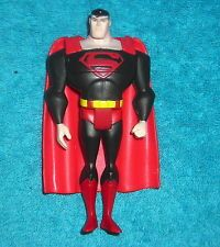 "JLU JUSTICE LEAGUE UNLIMITED BLACK COSTUME SUPERMAN 4.5"" ACTION FIGURE"