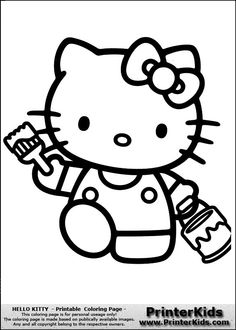 Coloring Sheets You Can Print | ... printable coloring page this is a coloring sheet with hello kitty that