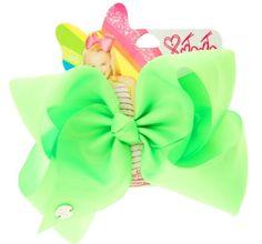 JoJo Siwa Large Bright Green Neon Hair Bow