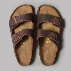 Birkenstock Arizona Sandals (Habana Oiled Leather)