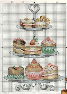 ! Gráficos Para Bordados: Cupcakes
