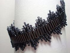Unique Bugle Bead Bracelet with Seed Bead by ReggiesCreations, $20.00