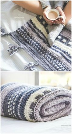 I have rounded up some of the best and interesting free #crochet #Blanket patterns for your home.Winter Tempest Blanket – Crochet Pattern