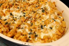 Smoked Gouda and Pumpkin Mac and Cheese Recipe Main Dishes with whole wheat elbow macaroni, extra-virgin olive oil, butter, shallots, garlic cloves, pumpkin purée, greek style plain yogurt, vegetable stock, cayenne pepper, smoked gouda, cheddar cheese, whole wheat italian breadcrumbs, sage leaves, salt, pepper
