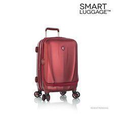 "Heys Vantage Luggage 26"" Hardcase Red Burgundy Spinner Suitcase"