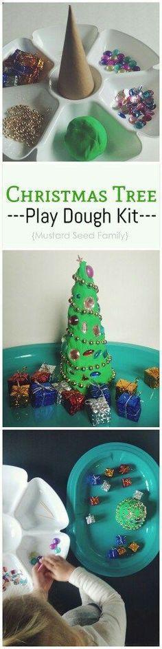 Christmas Tree Play Dough Kit