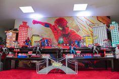 32 Ideias de Decoração Festa Infantil Homem-Aranha Spiderman, Man Party, Birthday Decorations, Painting, Snow White, Party Ideas, Spider Man Birthday, Party, Spider Man